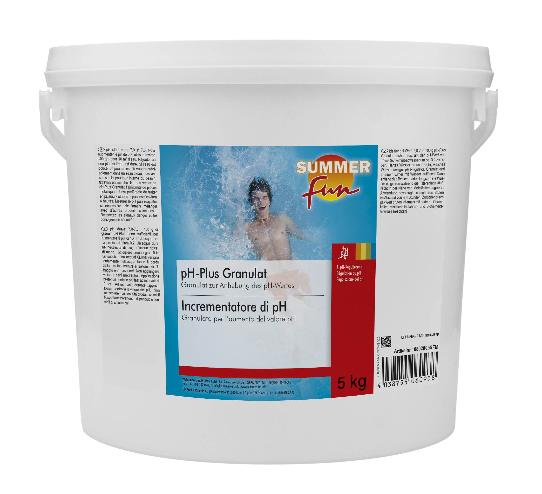 SummerFun pH - plus 5 kg