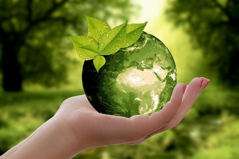 Nachhaltigkeit, grüne Weltkugel
