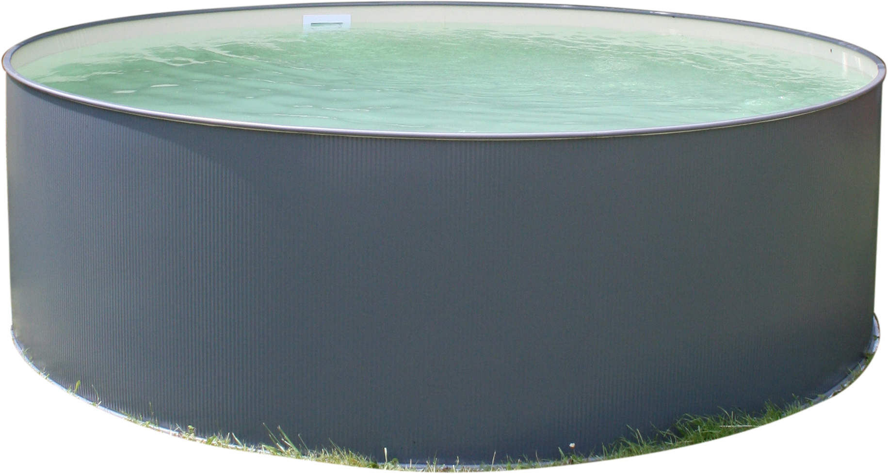PLANET POOL Rundbecken-Set Anthrazit 450x90cm, 3 teilig