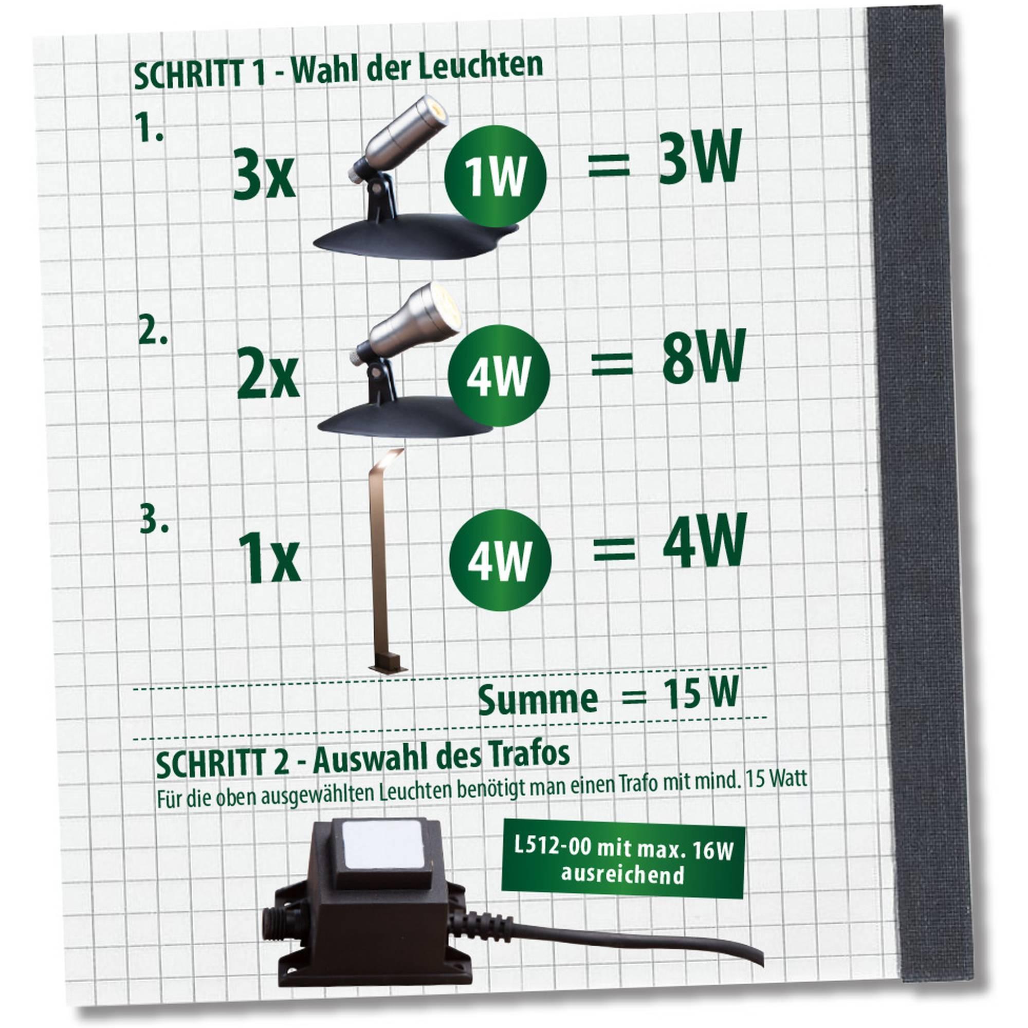 Heissner L421-00 LED Smart Light Spot 1 Watt silber