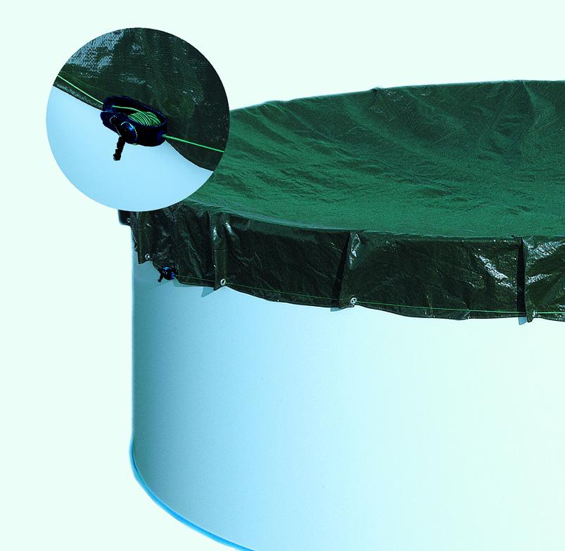 Extra-Abdeckplane Acht-/Oval für Becken 460x720cm