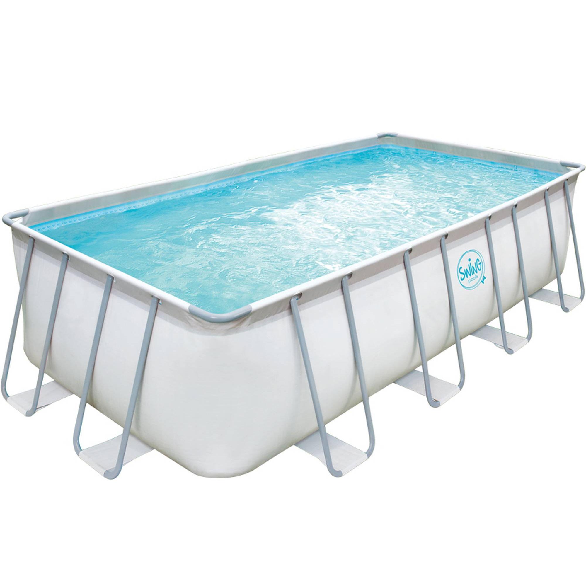 Elite Frame Pool hellgrau rechteckig 549x274x132cm solo