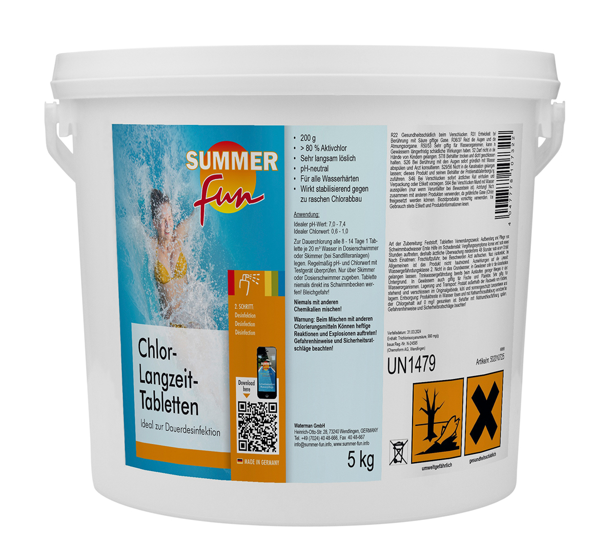 Summer Fun Chlor-Langzeit-Tabletten 200 g 5 kg