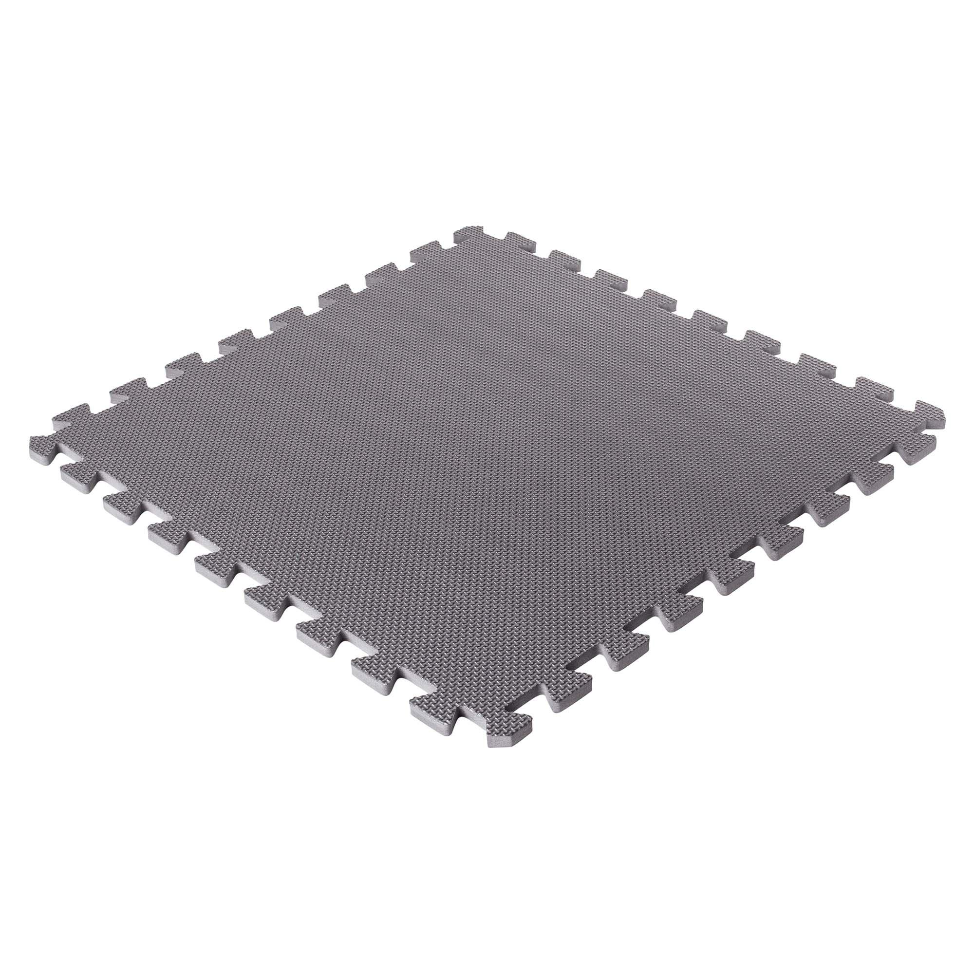 Bodenschutzmatten, grau, 500x500x8mm (8 Stück im Set = 2qm)
