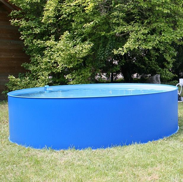 Rundbecken-Set Blau 350x90cm (SW:0,3 IH: 0,2 blau) overlap 3-teilig