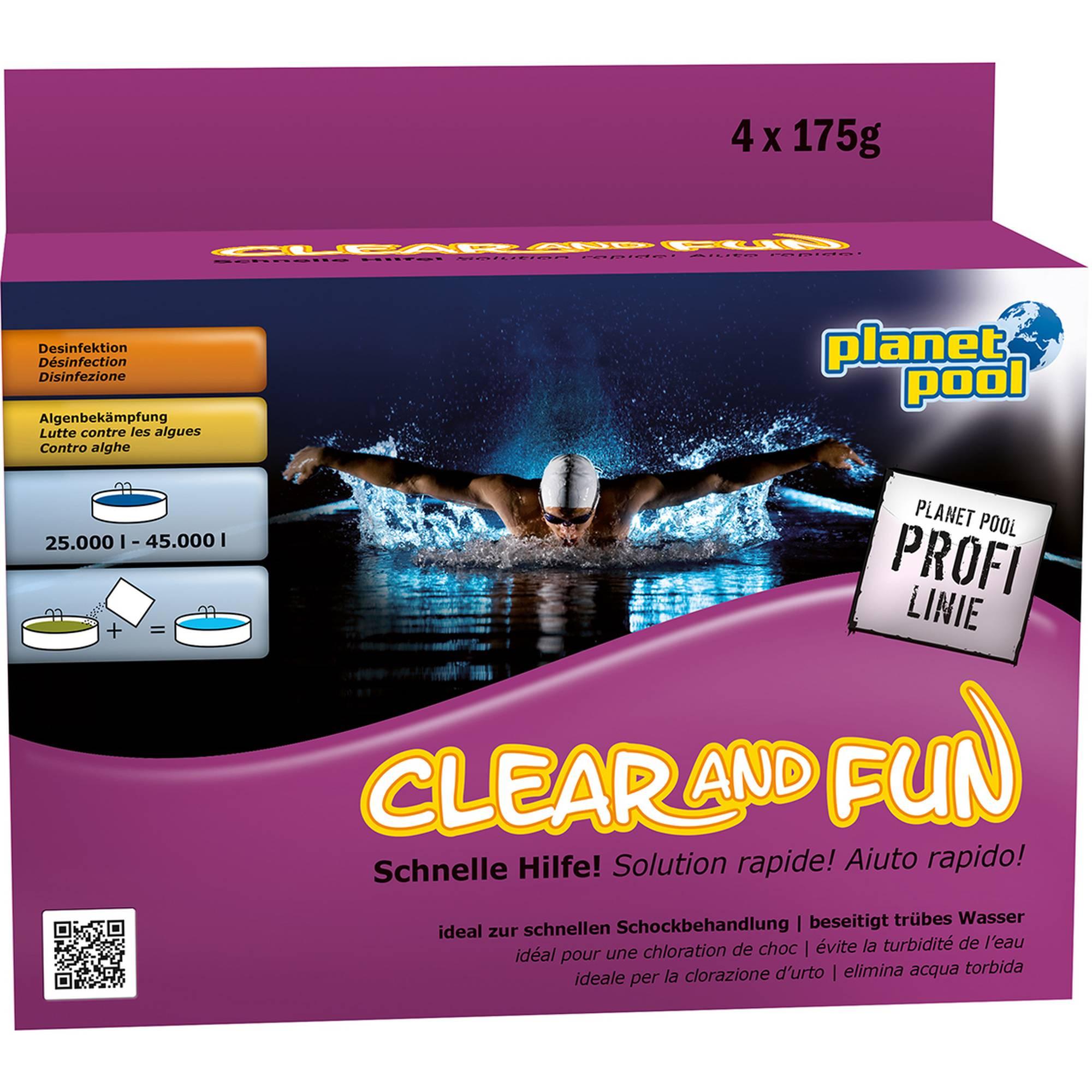 PLANET POOL - Profi Linie | Clear and Fun Big Wasserpflegeset