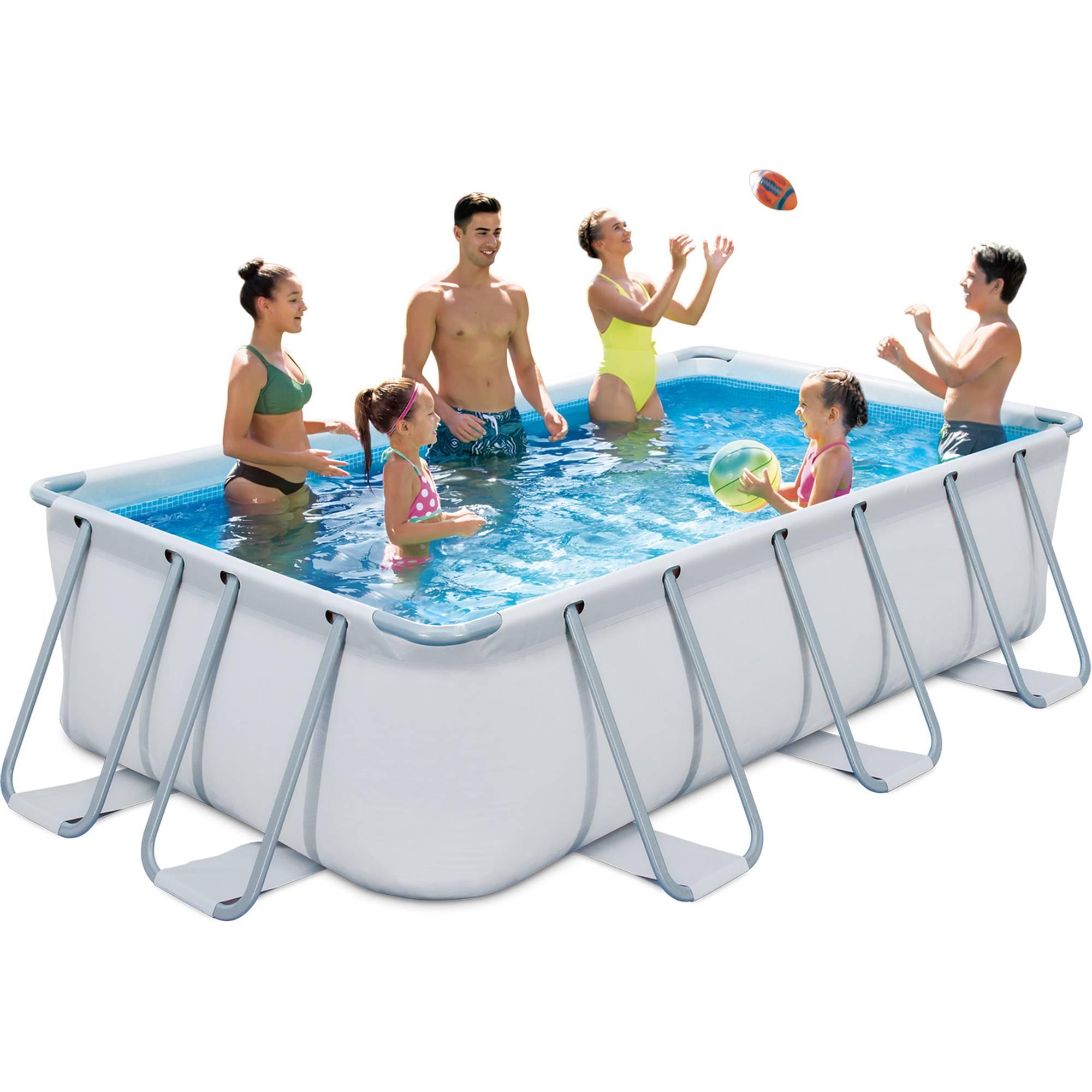 Elite Rechteck Frame Pool Set 400 x200 x 100 cm