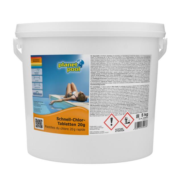 PLANET POOL Schnell-Chlortabletten 20g 5kg