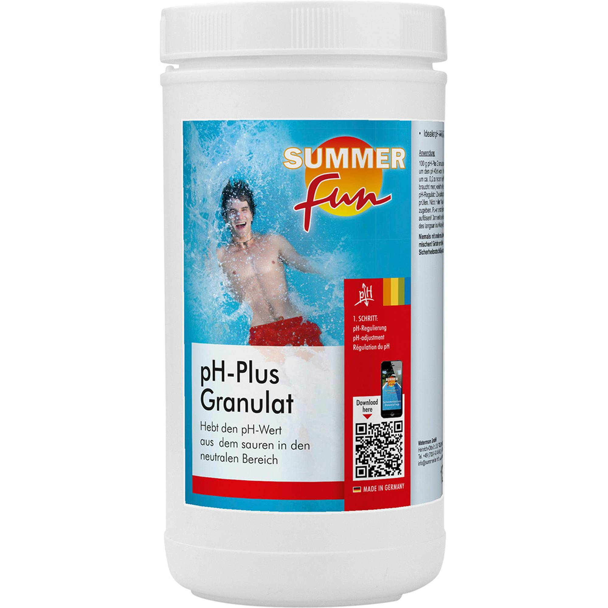 PH - Plus 1,2 kg, PH - Wert Anheber